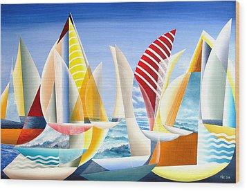 Sydney To Hobart Race Wood Print by Douglas Pike