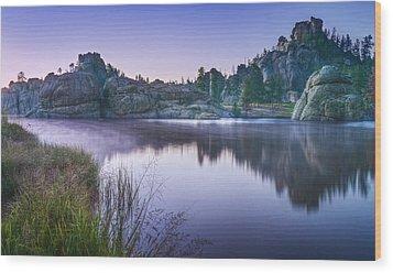 Sylvan Sunset Wood Print