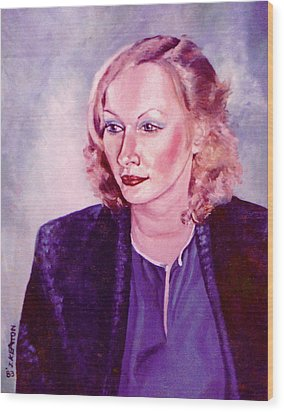 Sylvia Schneider Wood Print by John Keaton