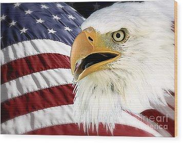 Symbol Of America Wood Print by Teresa Zieba