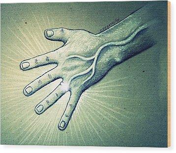 Symbol Of Unity Wood Print by Paulo Zerbato
