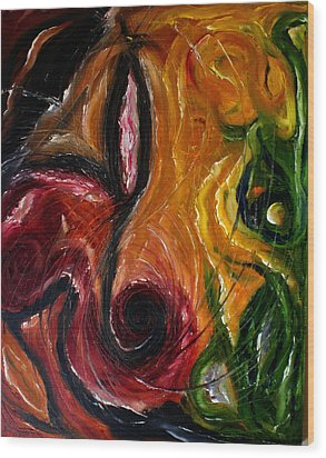 Symbol One Wood Print by Lou Ewers