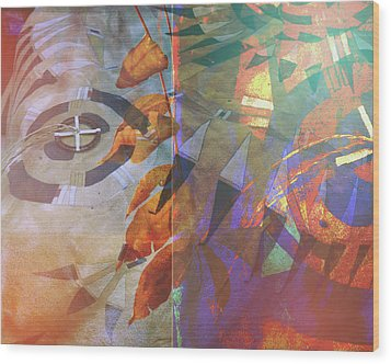 Symbolism No. 5 Wood Print by Toni Hopper