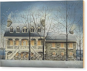 Symmes' Inn Wood Print by Catherine Holman