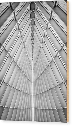 Symmetry Wood Print by Scott Norris