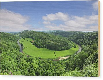 Wood Print featuring the photograph Symonds Yat, England by Colin and Linda McKie