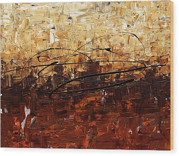 Wood Print featuring the painting Symphony by Carmen Guedez