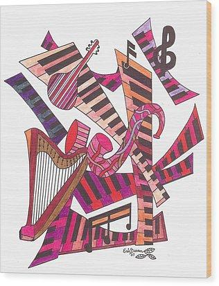 Symphony  Wood Print by Eric Devan