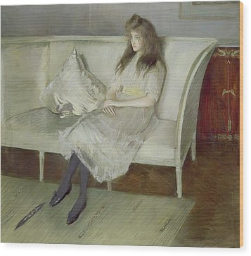 Symphony In White Wood Print by Paul Cesar Helleu
