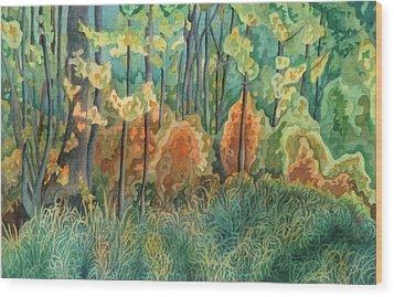 Symphony Of Light Wood Print by Anne Havard