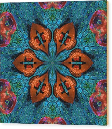 Synchronized Swimmers Wood Print by Lori Kingston