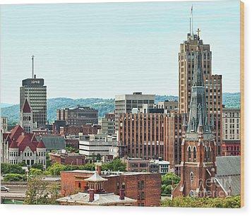 Syracuse, New York Wood Print by Debra Millet