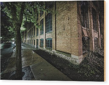 Wood Print featuring the photograph Syracuse Sidewalks by Everet Regal