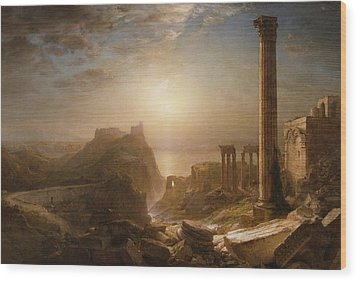 Syria By The Sea Wood Print by Frederic Edwin Church