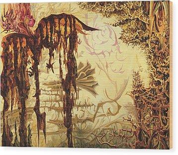 Szymanowski Landscape Wood Print by Charles Cater