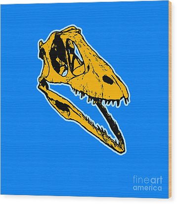 T-rex Graphic Wood Print by Pixel  Chimp