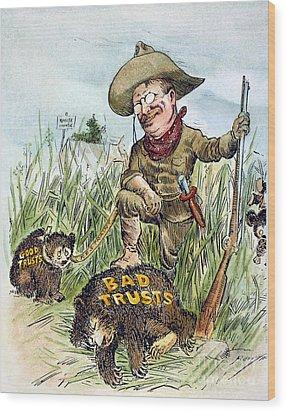 T. Roosevelt Cartoon, 1909 Wood Print by Granger