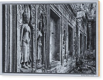 Ta Phrom Cambodia Wood Print