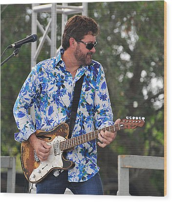 Tab Benoit And 1972 Fender Telecaster Wood Print