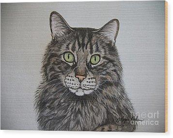 Tabby-lil' Bit Wood Print