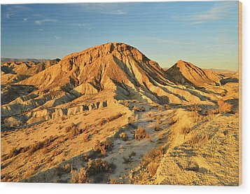 Tabernas Desert Almeria Spain Wood Print by Marek Stepan