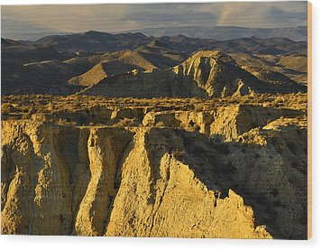 Tabernas Desert Spain Wood Print by Marek Stepan