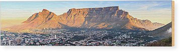 Wood Print featuring the photograph Table Mountain by Alexey Stiop