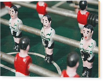 Table Soccer Wood Print by Gaspar Avila