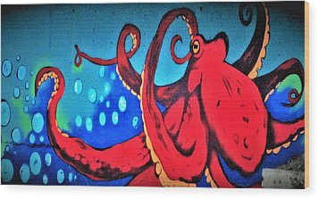 Tacoma Octopus  Wood Print