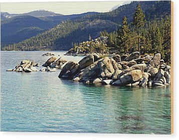 Wood Print featuring the photograph Tahoe Morning by Lynn Bawden