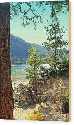 Tahoe Pines Wood Print by Lynn Bawden