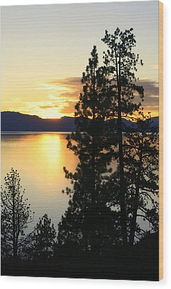 Wood Print featuring the photograph Tahoe Sunset by Lynn Bawden