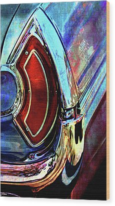 Wood Print featuring the digital art Tail Fender by Greg Sharpe