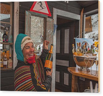 Taimi In Zermatt Switzerland Wood Print by Brenda Jacobs
