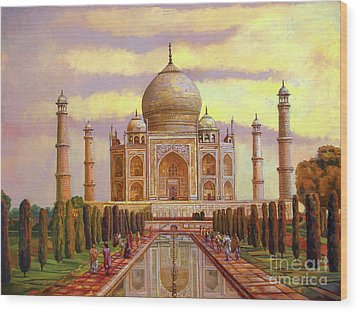 Taj Mahal Wood Print by Dominique Amendola