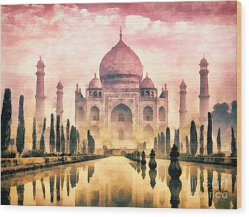 Taj Mahal Wood Print by Mo T