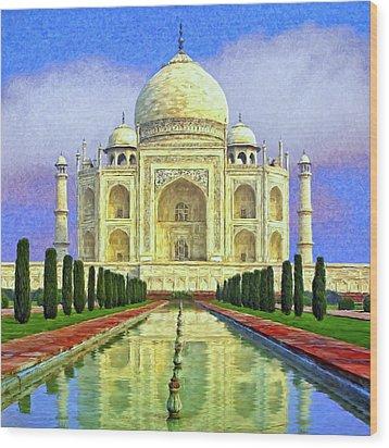Taj Mahal Morning Wood Print