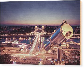 Wood Print featuring the photograph Take A Look At Paris by Hannes Cmarits