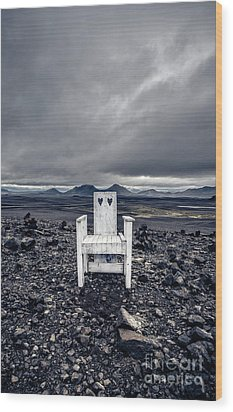 Wood Print featuring the photograph Take A Seat Iceland by Edward Fielding