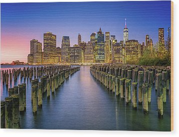 Take Me To Nyc Wood Print