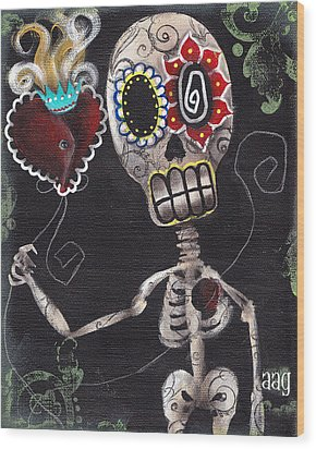 Take My Heart Wood Print by  Abril Andrade Griffith