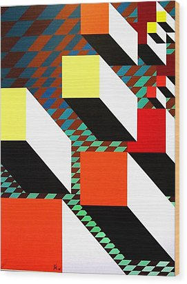 Take Off Wood Print by Karen Ann Wakeling