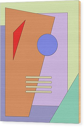 Taking Shape Wood Print by Richard Rizzo