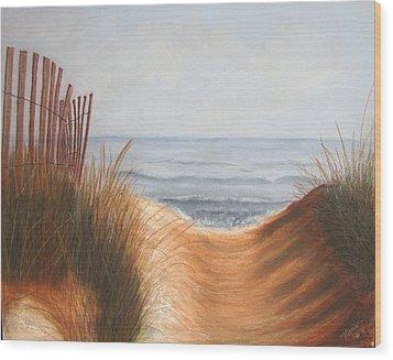 Taking The Path Wood Print by Maris Sherwood