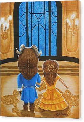 Wood Print featuring the painting Tale As Old As Time by Al  Molina