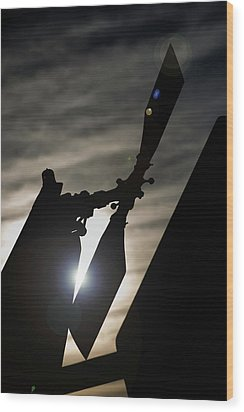 Wood Print featuring the photograph Tale Sun by Paul Job