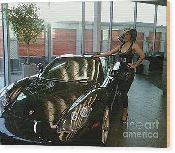 Talisa Hartleys Sports Cars And Big Muscles Wood Print