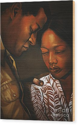 Talk To Me Baby Wood Print by Curtis James