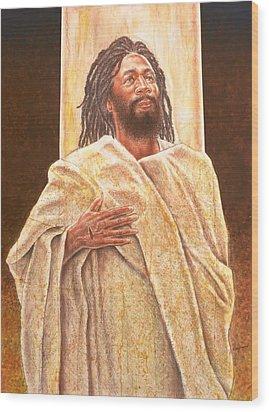 Talkin' Bout Jesus Wood Print by Raymond Walker