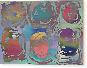 Talking Heads  Wood Print